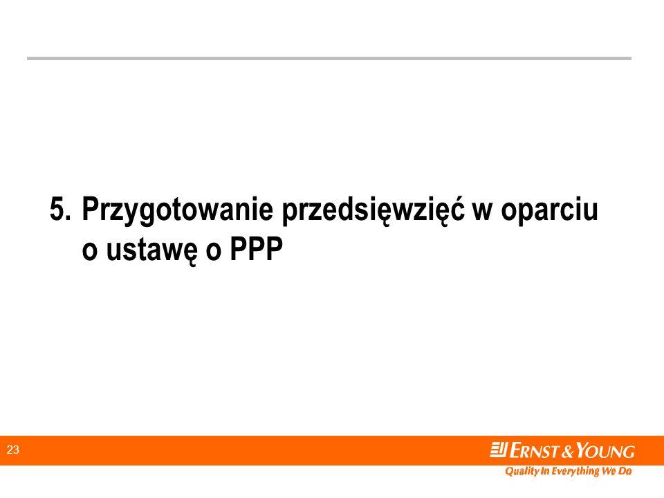 5. Przygotowanie przedsięwzięć w oparciu o ustawę o PPP
