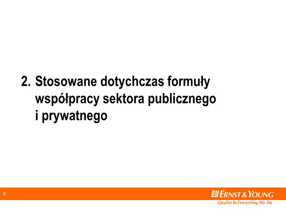 2. Stosowane dotychczas formuły współpracy sektora publicznego i prywatnego