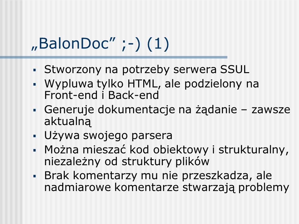 """""""BalonDoc ;-) (1) Stworzony na potrzeby serwera SSUL"""