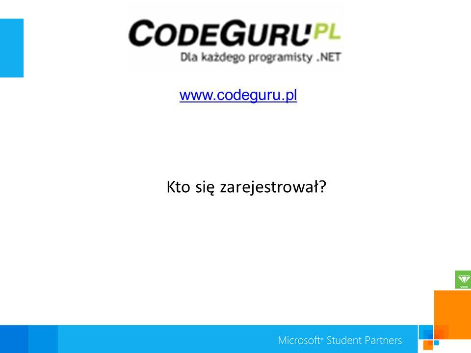 Kto się zarejestrował www.codeguru.pl