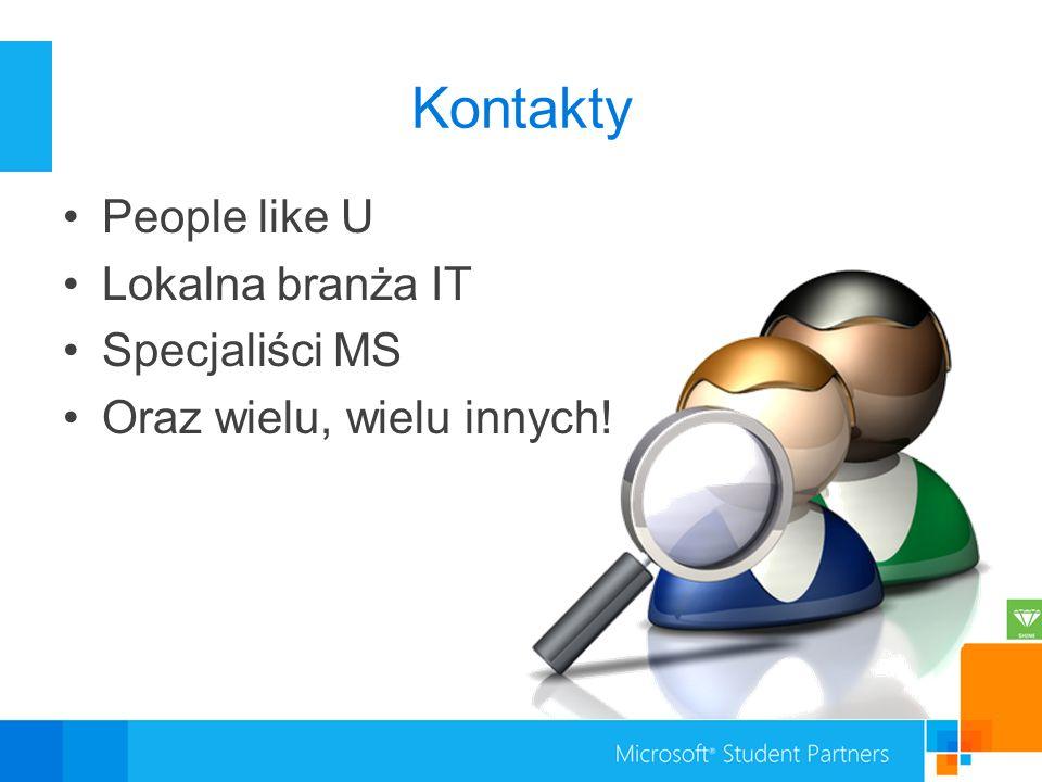 Kontakty People like U Lokalna branża IT Specjaliści MS