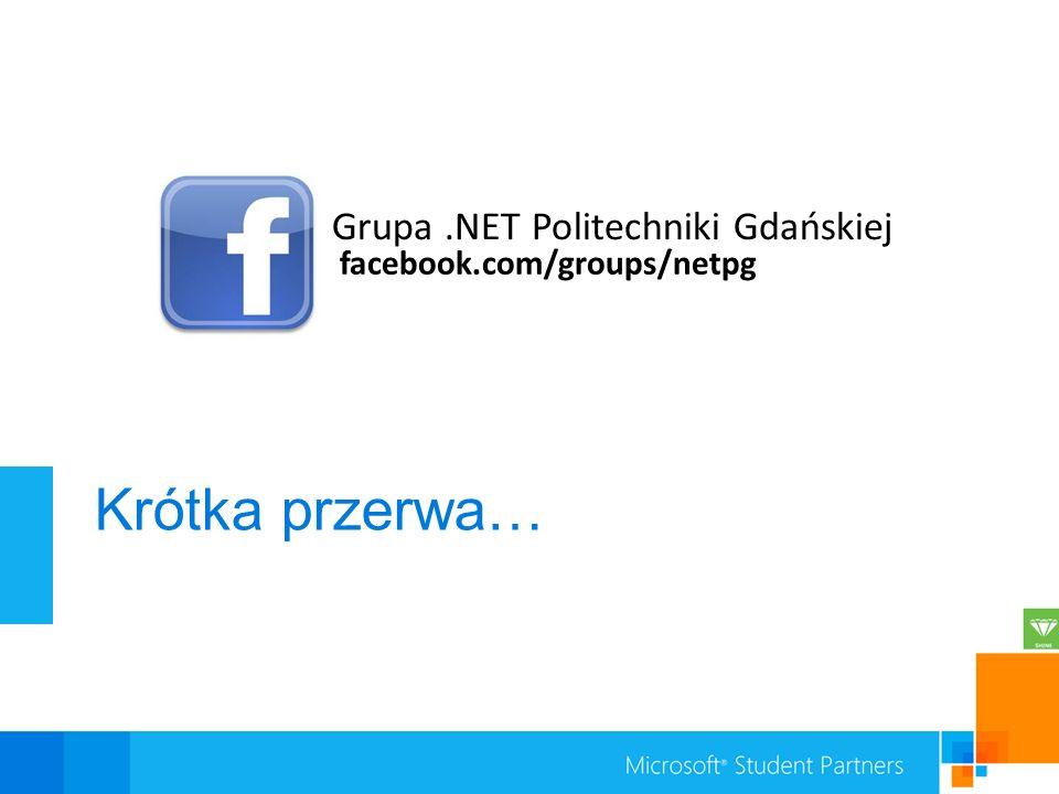 Krótka przerwa… Grupa .NET Politechniki Gdańskiej