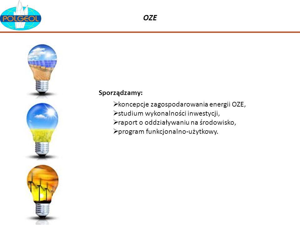 OZE Sporządzamy: koncepcje zagospodarowania energii OZE,