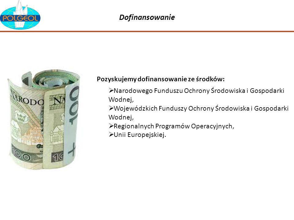 Dofinansowanie Pozyskujemy dofinansowanie ze środków: