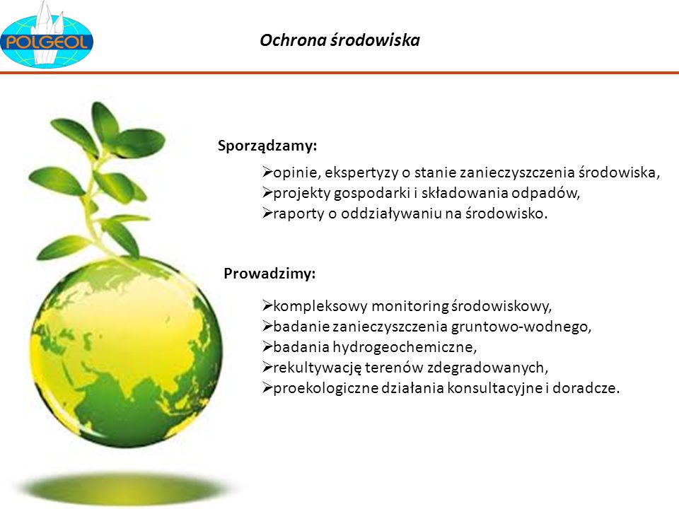 Ochrona środowiska Sporządzamy:
