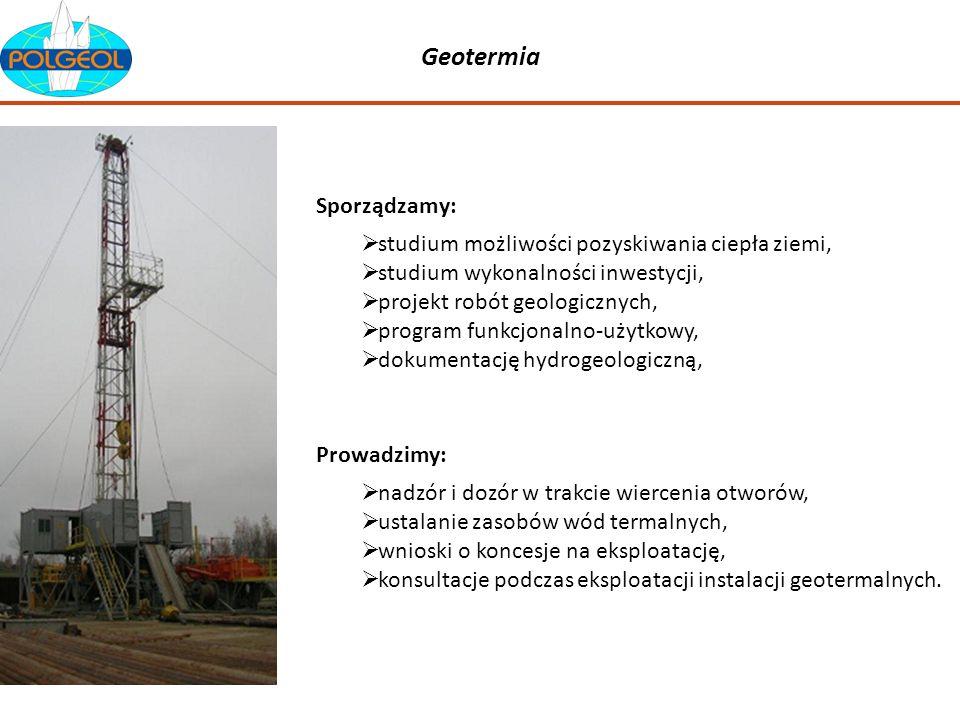 Geotermia Sporządzamy: studium możliwości pozyskiwania ciepła ziemi,