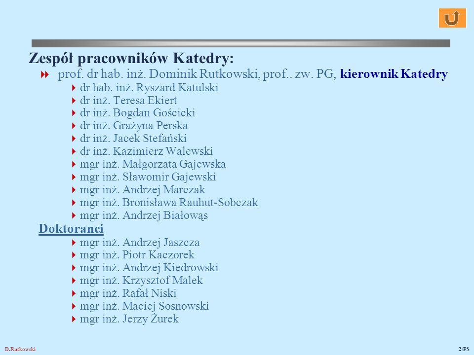 Zespół pracowników Katedry: