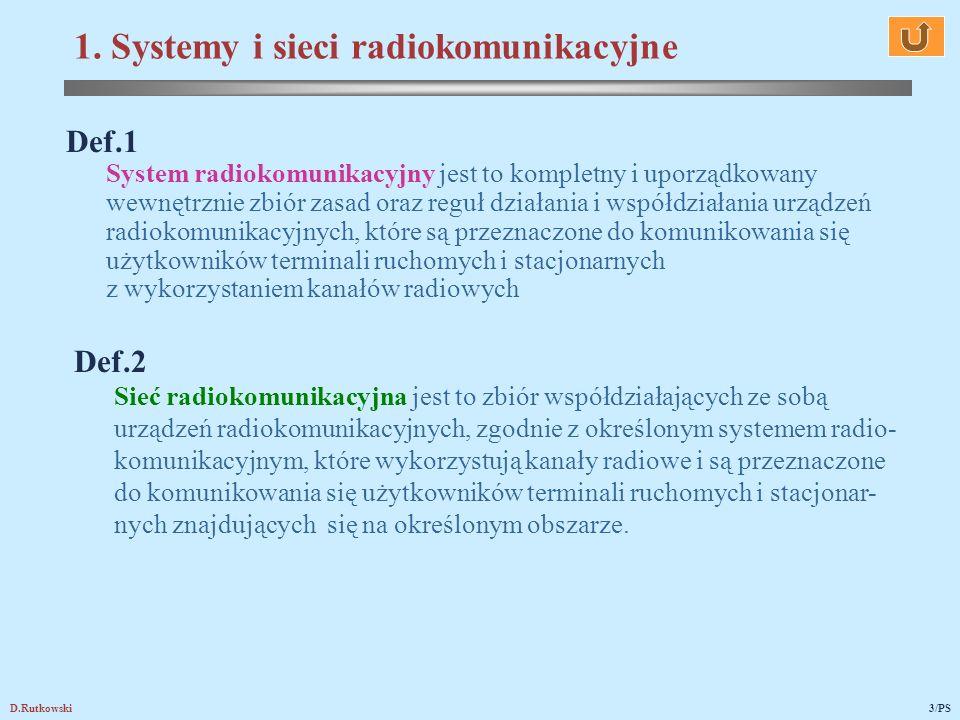 1. Systemy i sieci radiokomunikacyjne