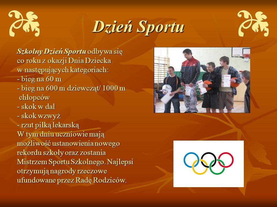 Dzień Sportu Szkolny Dzień Sportu odbywa się