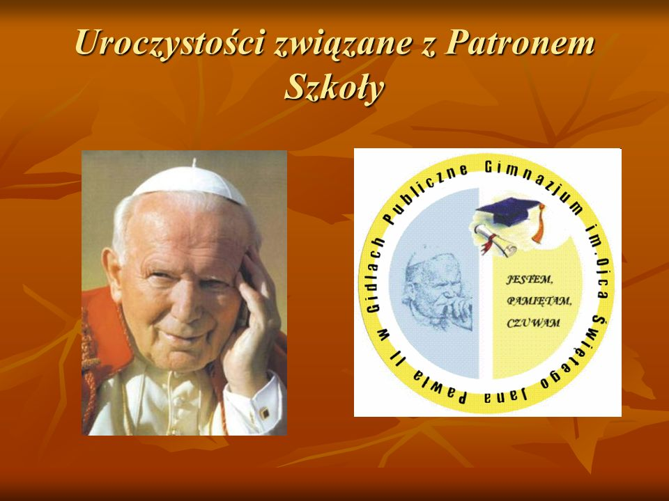 Uroczystości związane z Patronem Szkoły