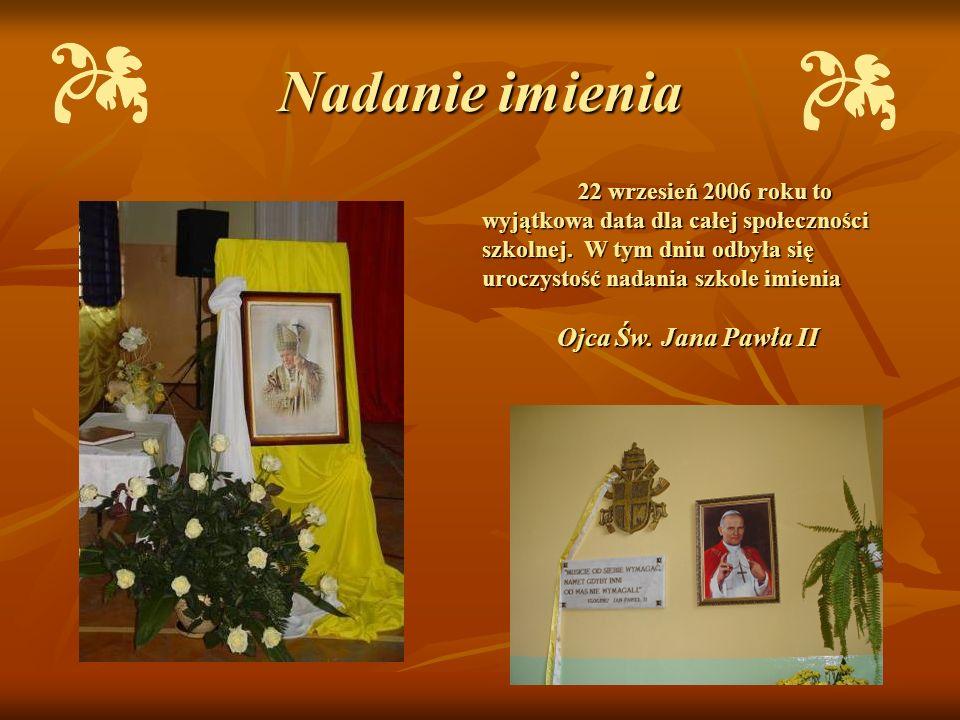 Nadanie imienia Ojca Św. Jana Pawła II