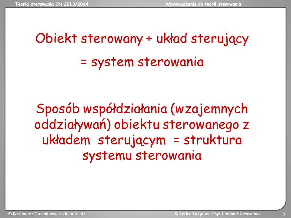 Obiekt sterowany + układ sterujący