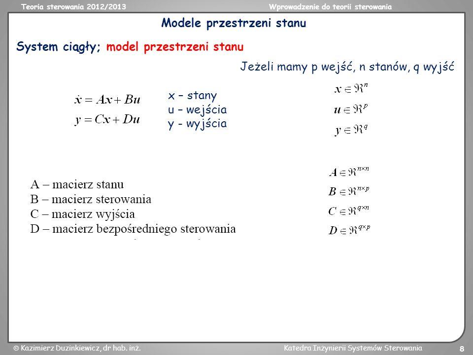 Modele przestrzeni stanu