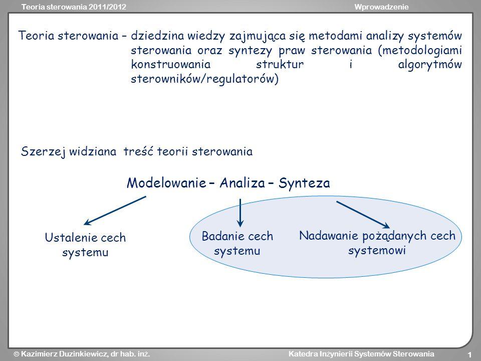 Modelowanie – Analiza – Synteza