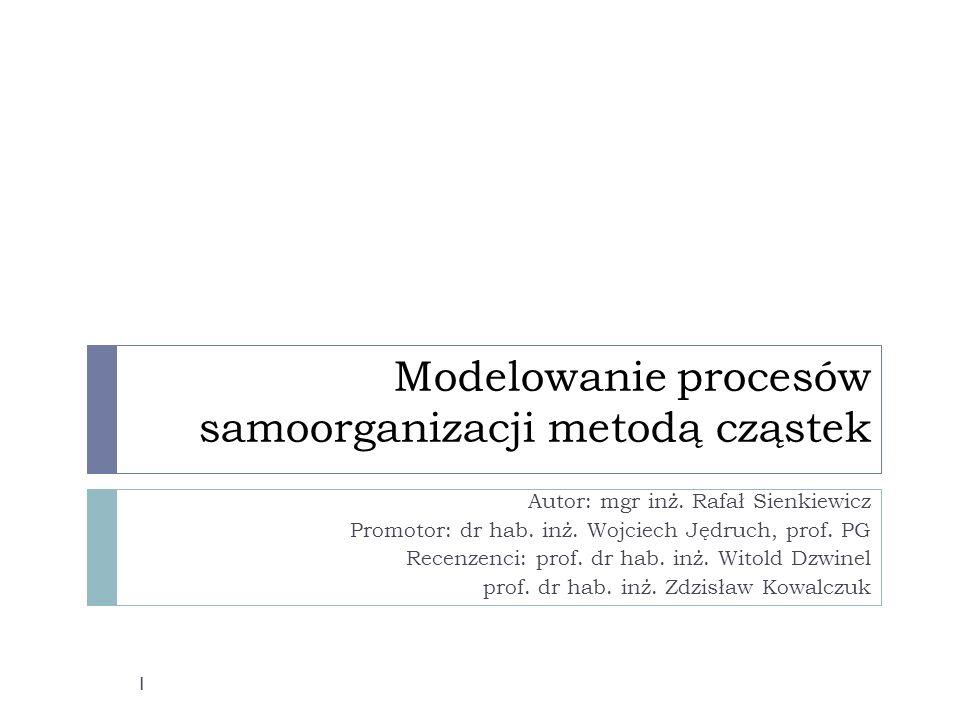 Modelowanie procesów samoorganizacji metodą cząstek