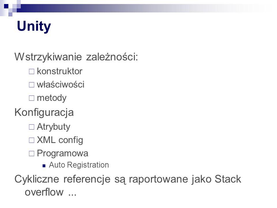 Unity Wstrzykiwanie zależności: Konfiguracja