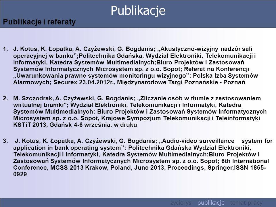 Publikacje Publikacje i referaty