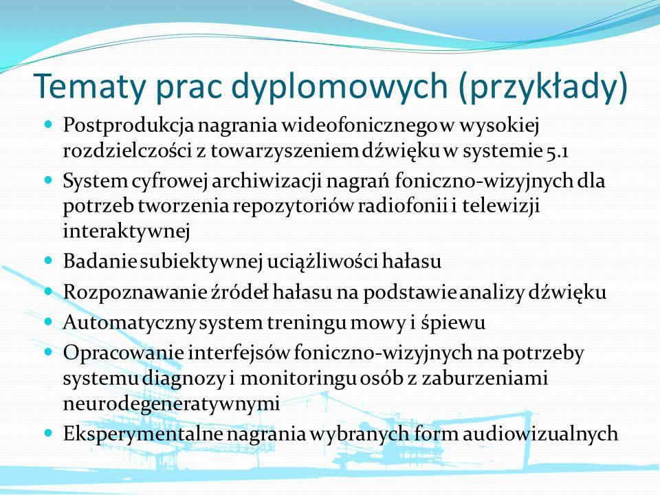 Tematy prac dyplomowych (przykłady)