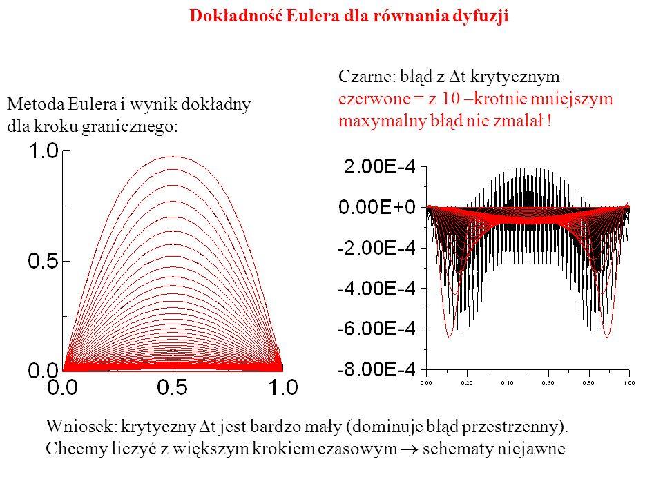 Dokładność Eulera dla równania dyfuzji