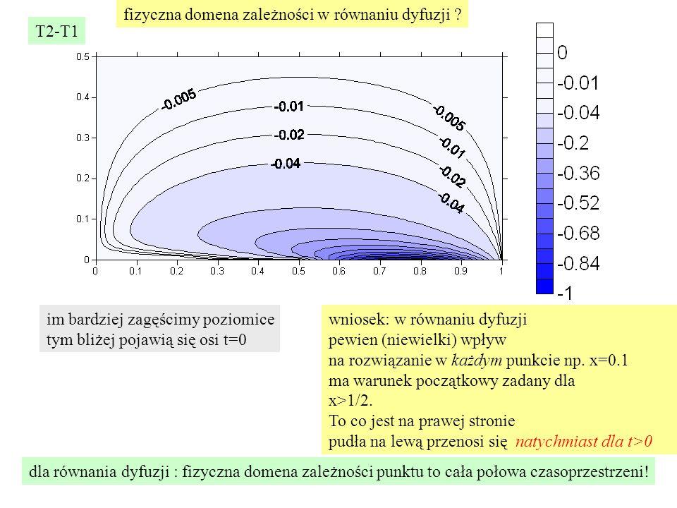 fizyczna domena zależności w równaniu dyfuzji