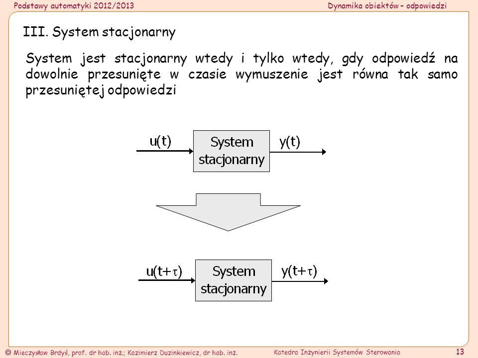 III. System stacjonarny