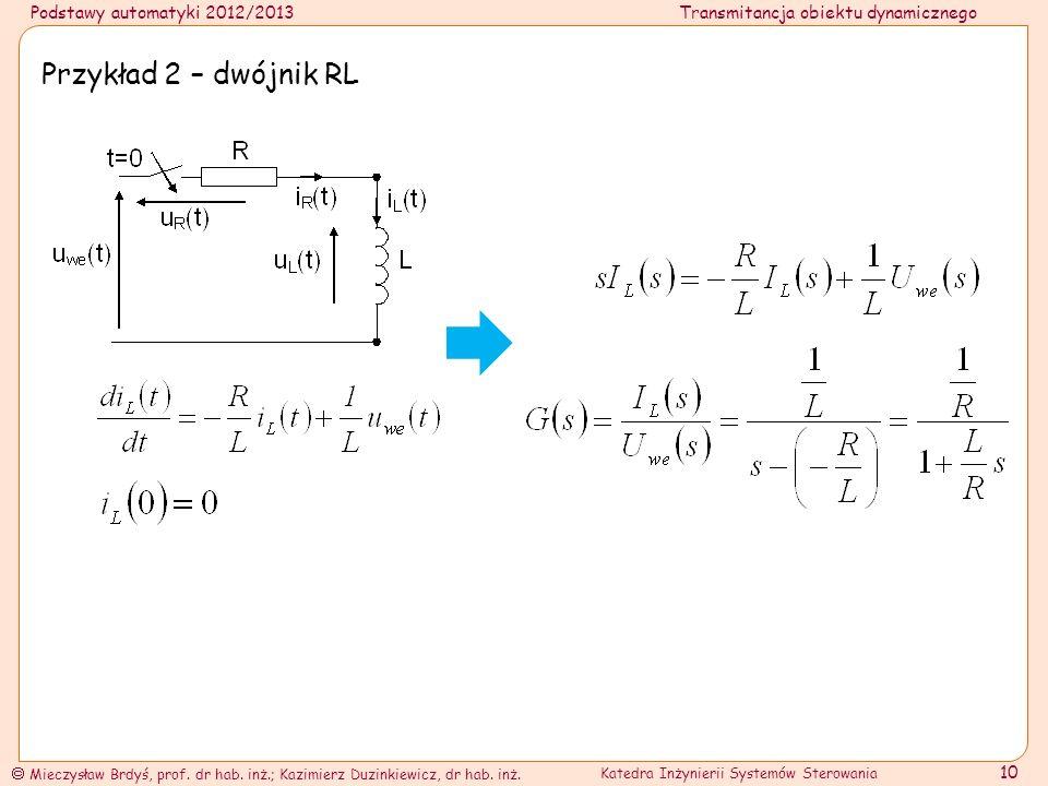 Przykład 2 – dwójnik RL