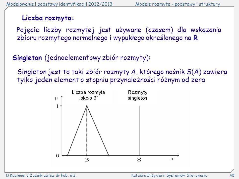 Liczba rozmyta:Pojęcie liczby rozmytej jest używane (czasem) dla wskazania zbioru rozmytego normalnego i wypukłego określonego na R.