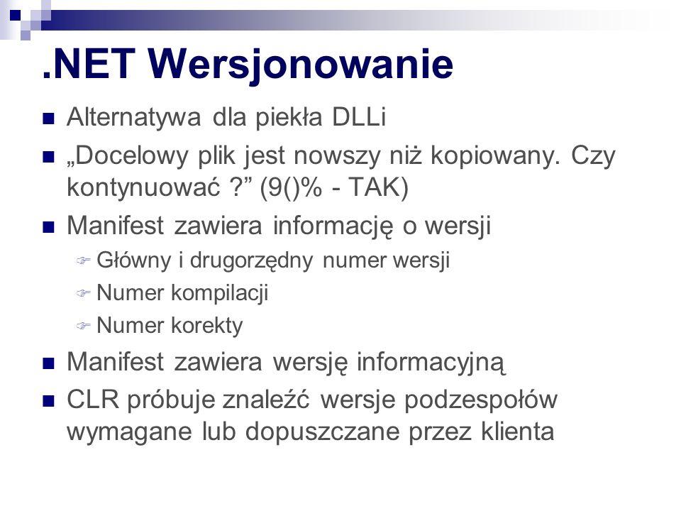 .NET Wersjonowanie Alternatywa dla piekła DLLi