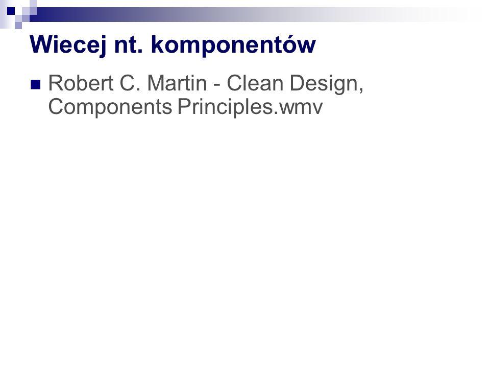 Wiecej nt. komponentów Robert C. Martin - Clean Design, Components Principles.wmv