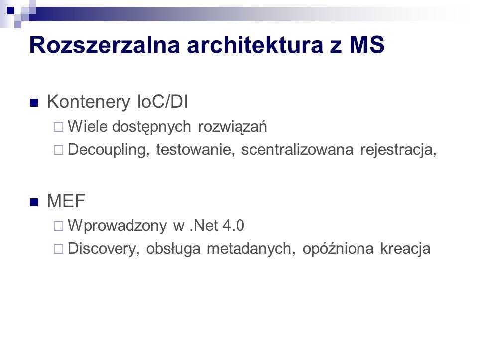Rozszerzalna architektura z MS