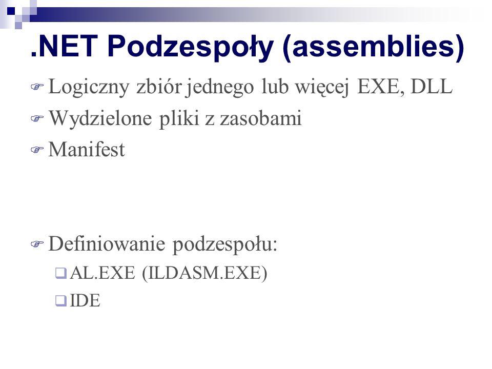 .NET Podzespoły (assemblies)