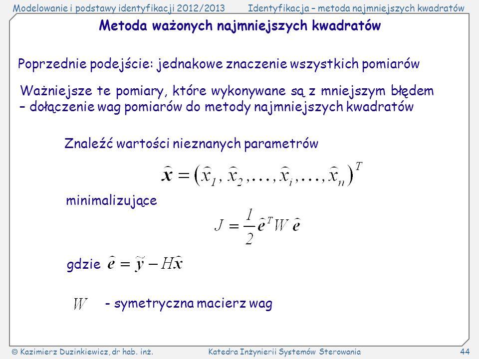 Metoda ważonych najmniejszych kwadratów