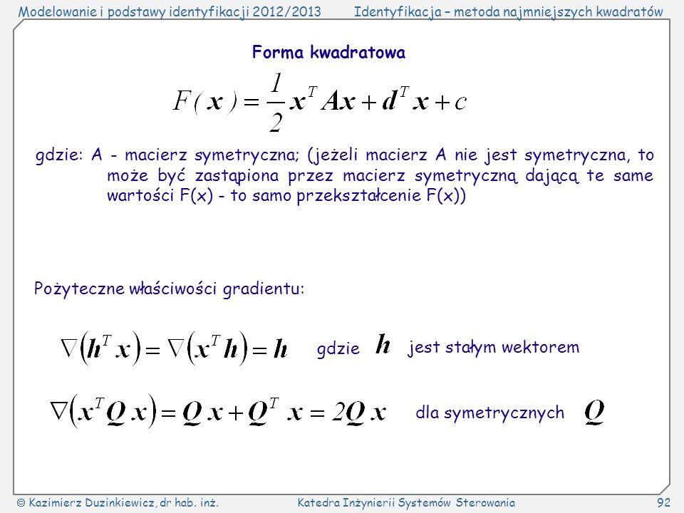 Forma kwadratowa