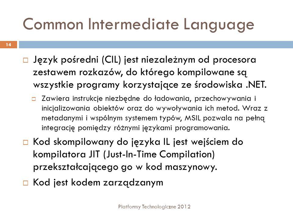 Common Intermediate Language