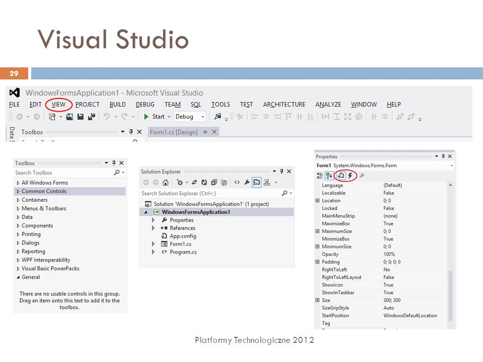 Visual Studio Platformy Technologiczne 2012