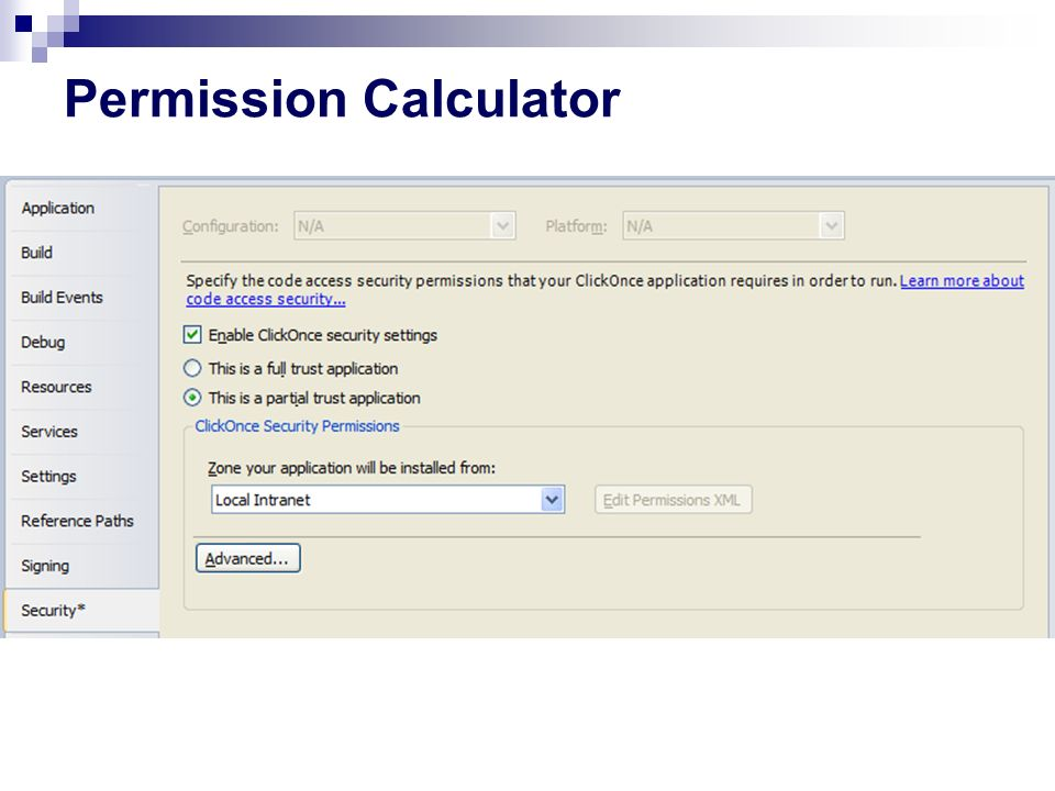 Permission Calculator