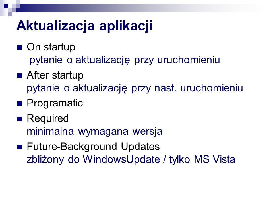 Aktualizacja aplikacji