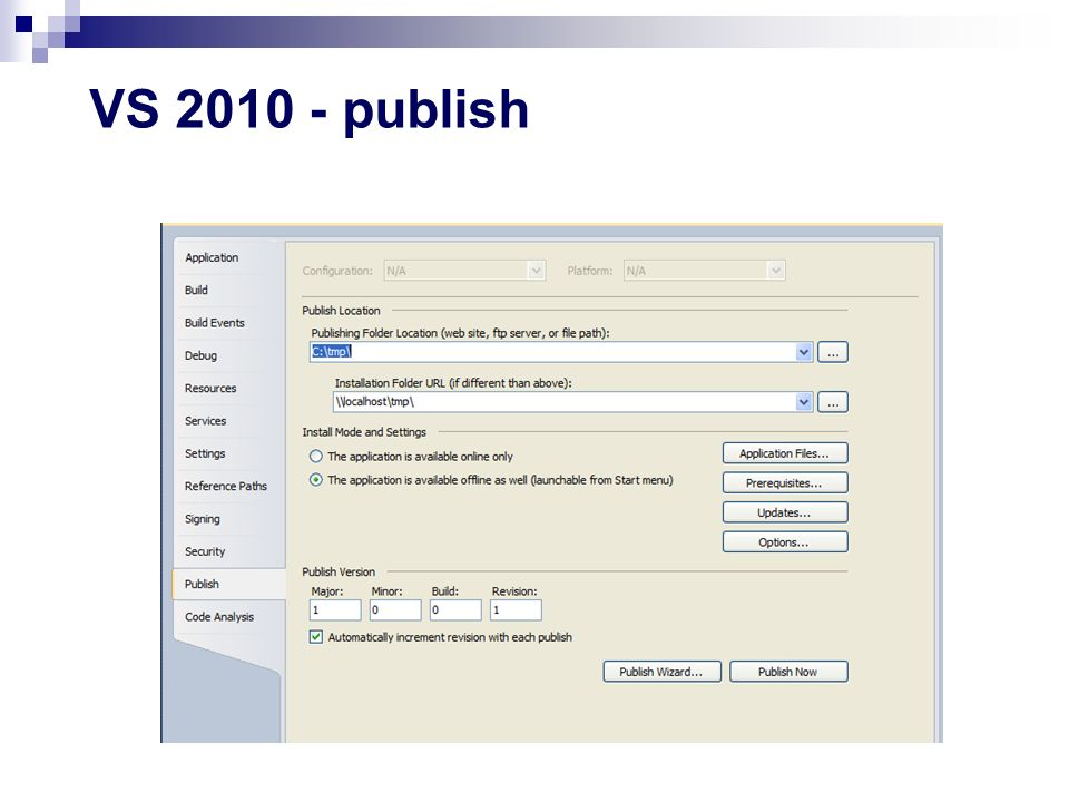 VS 2010 - publish