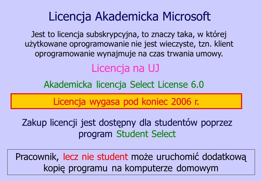 Licencja Akademicka Microsoft