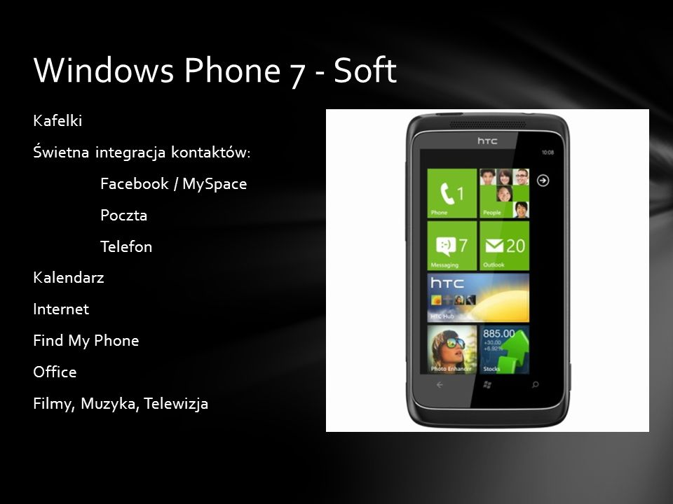Windows Phone 7 - Soft
