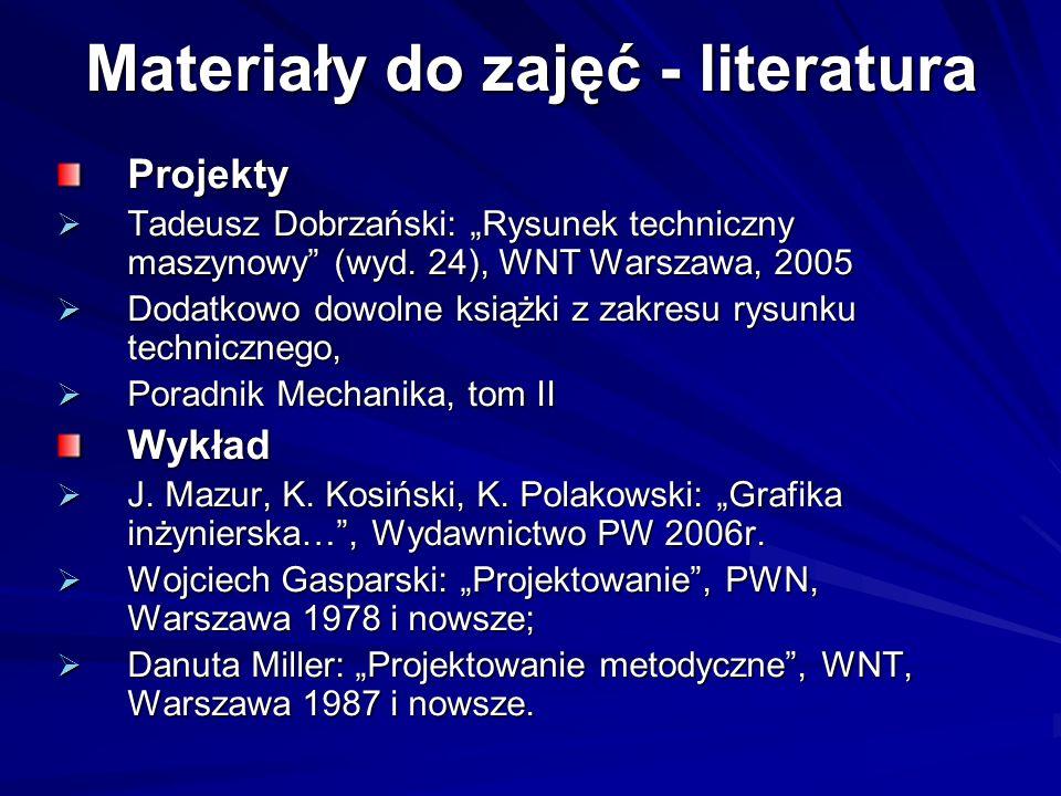 Materiały do zajęć - literatura