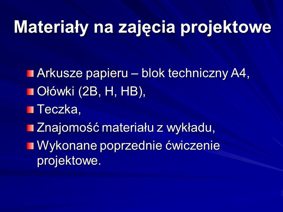 Materiały na zajęcia projektowe
