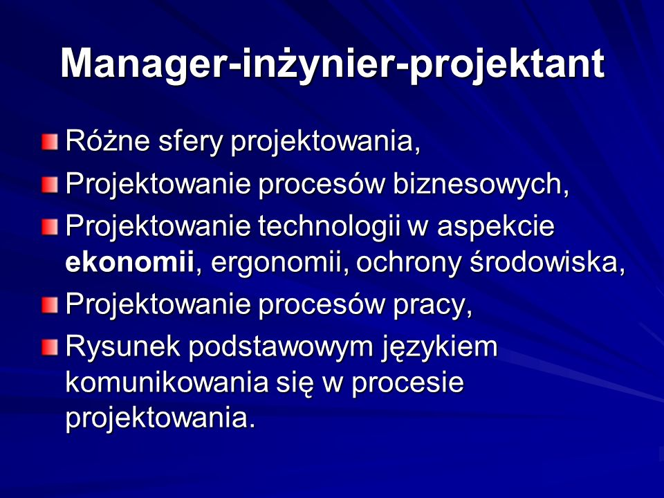 Manager-inżynier-projektant