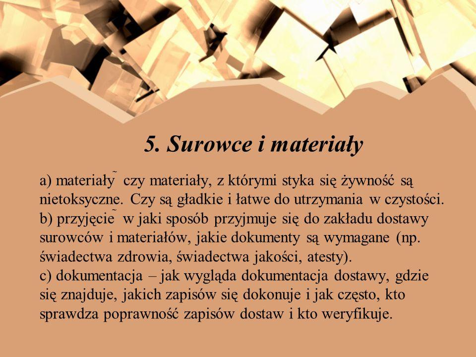 5. Surowce i materiały