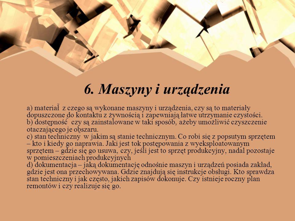 6. Maszyny i urządzenia