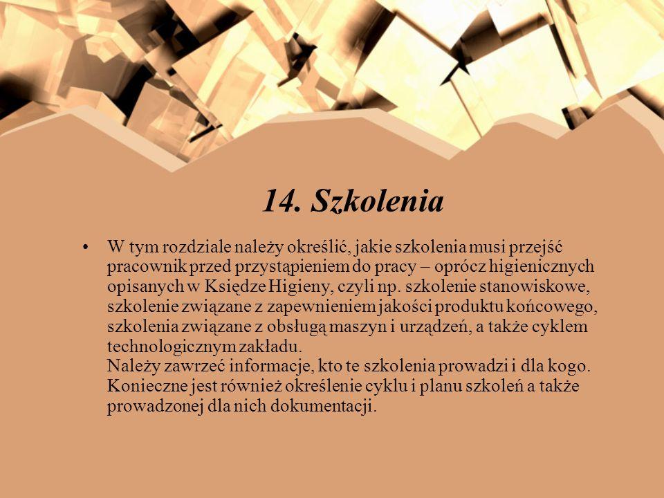 14. Szkolenia