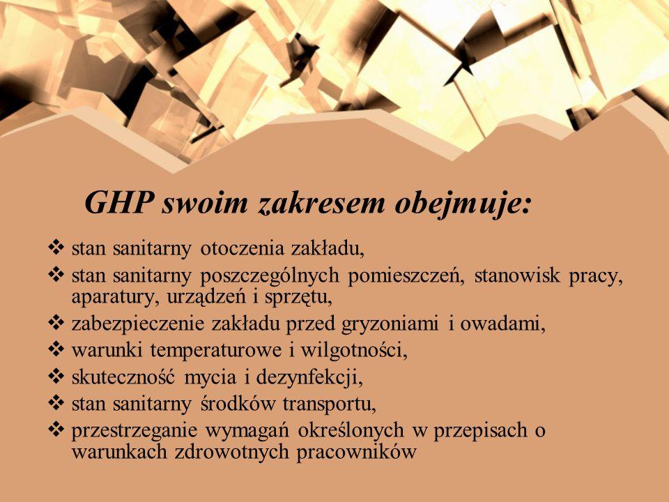 GHP swoim zakresem obejmuje: