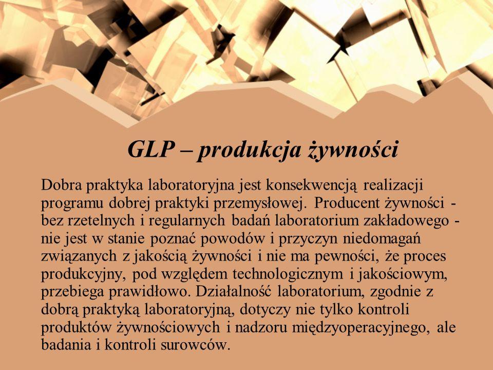 GLP – produkcja żywności