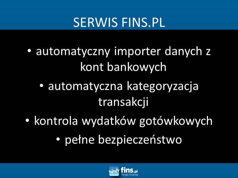 SERWIS FINS.PL automatyczny importer danych z kont bankowych