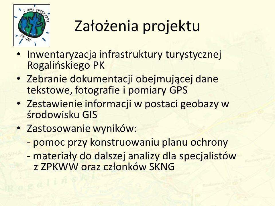 Założenia projektu Inwentaryzacja infrastruktury turystycznej Rogalińskiego PK.